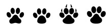 Paw Print Set. Paw Foot Trail ...