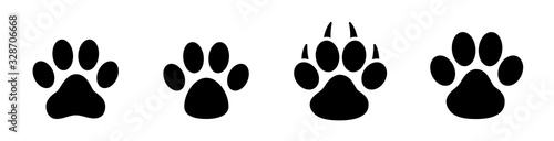 Photo Paw print set