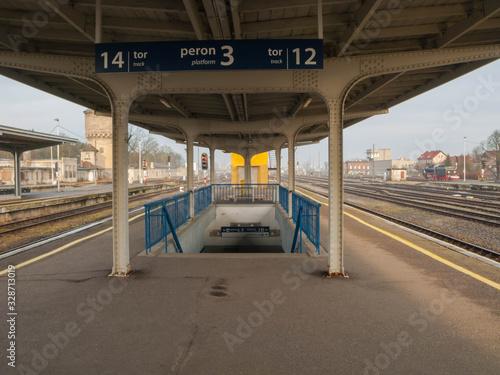 Photo Stacja kolejowa w mieście Żagań w Polsce.