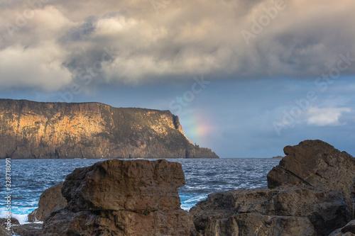 Photo Rainbow Cape Raoul Tasmania