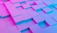 Abstract Modern Pink And Blue ...