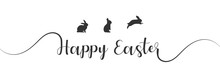 Happy Easter In Elegant Callig...