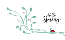 Spring Background Design With ...