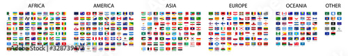 Fototapeta Flag of world. Vector icons. Set flags. obraz