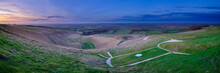 Views Over The White Horse At Uffington On The Ridgeway