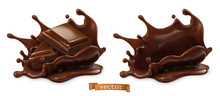 Piece Of Chocolate And Chocola...