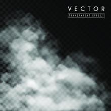 Vector White Thick Smoke, Smog...