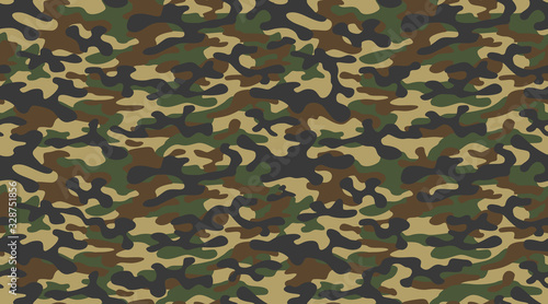 Canvastavla camouflage military texture background soldier repeated seamless green print