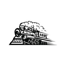 Railroad Locomotive Logo Illus...