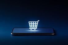 Online Shopping Icon On Smart ...