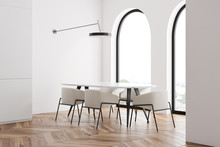 White Dining Room Corner With ...