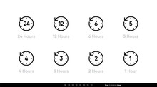 Time Interval Clock Icons 24, ...