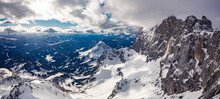 The Snowy Winter Panorama Of D...
