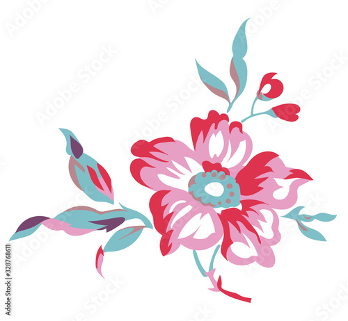Vintage style floral vector illustration Canvas Print