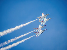 Fighter Jets Flying In Formati...