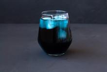 Iced Butterfly Pea Tea. Glass ...