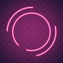 Neon Glow Circle Retro Neon La...