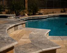Travertine Pool And Spa