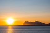 Sunset above Vestrahorn mountain in Iceland