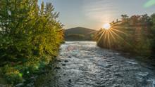 A Sun Set From A Bridge In Err...