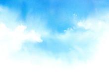 空 水彩画
