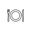Fork, Spoon, and Knife icon. Restaurant icon. food icon. eat