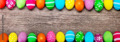 Obraz easter eggs on wooden background - fototapety do salonu