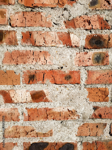 Photo Background of red brick wall pattern texture near