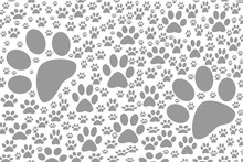 Background Dog Footprints Cart...
