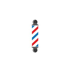 Barber Pole Icon Vector Illlus...