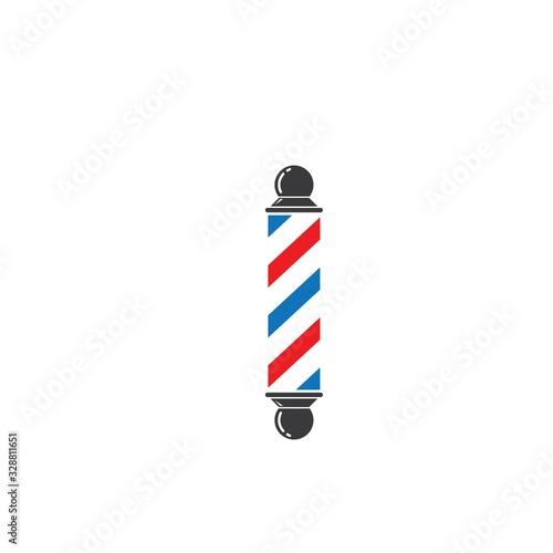 Valokuvatapetti barber pole icon vector illlustration