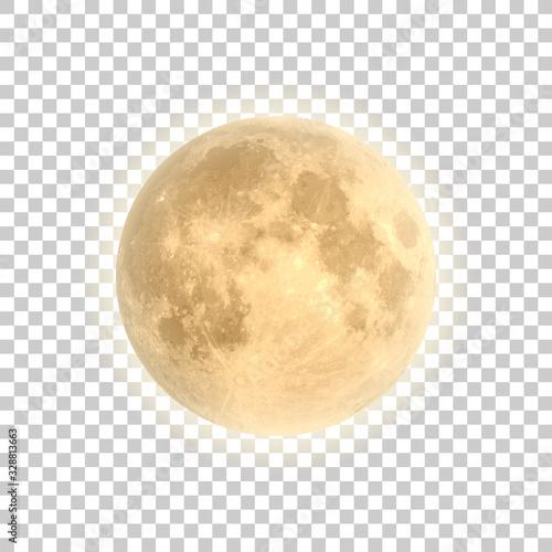 Fotografia, Obraz Full moon isolated with background, vector