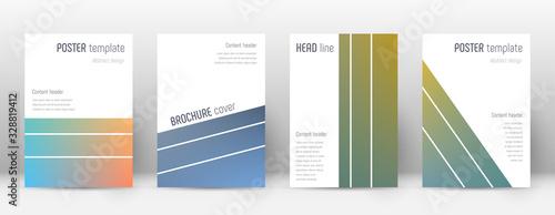Fotografie, Obraz Flyer layout. Geometric surprising template for Br