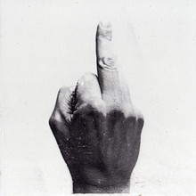 Middle Finger Pointed White Gr...