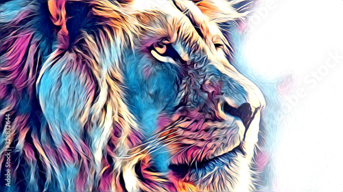 Photo lion art illustration drawing