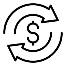 Money Convert Icon. Outline Mo...
