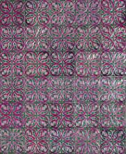 Floral Decorative Tiles Pattern Background