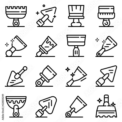 Fotomural Putty knife icons set