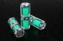 Front View Of 3 SciFi Hexagona...