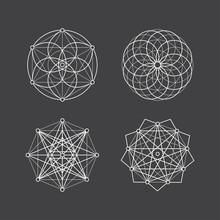 Set Of Geometric Mandala Esote...