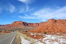 Capitol Reef National Park, Utah, In Winter
