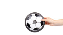 Soccer Hover Ball, Flying Toy For Kids. Isolated On White.