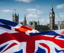 United Kingdom Flag And Big Be...
