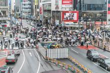 雨の日の渋谷の景色