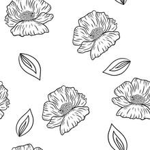Seamless Pattern Of Beautiful ...
