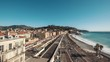 Time-lapse of beach and Promenade des Anglais in Nice at Cote d'Azur in France