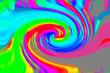 ドロドロしたしたな絵の具のような色合いのグラデーションの渦巻きの背景