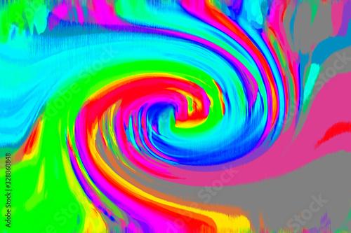 ドロドロしたしたな絵の具のような色合いのグラデーションの渦巻きの背景 Wallpaper Mural
