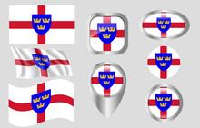 Flag Of East Anglia, England