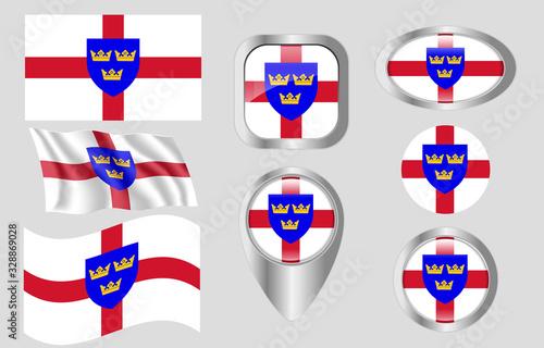 Carta da parati Flag of East Anglia, England